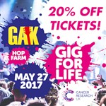 20% off tickets with GAK! A great chance to watch loads of brilliant bands including 10cc
