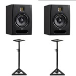 Adam F7 Active Monitor (Pair) With Monitor Stands