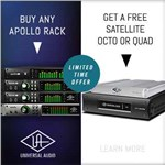 Buy an Apollo Rack & Get a FREE UAD-2 Satellite DSP Accelerator