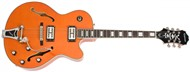 Epiphone Emperor Swingster, Translucent Orange, Case and Cable Deal
