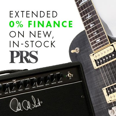 Extended 0% Finance on all new, in-stock PRS Guitars & Amps