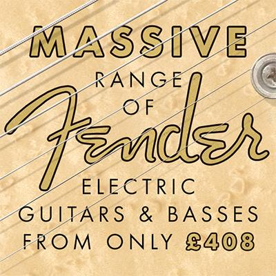 Fender Electric Guitars & Basses from £408!