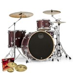 Mapex MA446S Mars Big Beat 4 Piece Shell Pack (Bloodwood) + Hardware + Paiste PST 3 Cymbal Set