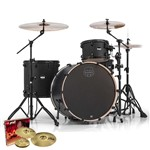 Mapex MA446S Mars Big Beat 4 Piece Shell Pack (Nightwood)  + Hardware + Paiste PST 3 Cymbal Set
