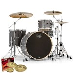 Mapex MA446S Mars Big Beat 4 Piece Shell Pack (Smokewood)  + Hardware + Paiste PST 3 Cymbal Set