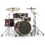 Mapex MA504SF Mars Fusion 5 Piece Shell Pack (Bloodwood) + Hardware Bundle