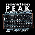 On Thursday 25th May Novation Specialists will be in-store for a sneak peak at the brand new Novation Peak.
