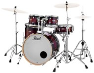 Pearl Decade Maple Fusion 5 piece Kit w/Hardware, Gloss Deep Red Burst