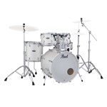 Pearl Decade Maple U.S Fusion 5 piece Kit w/Hardware, White Satin Pearl