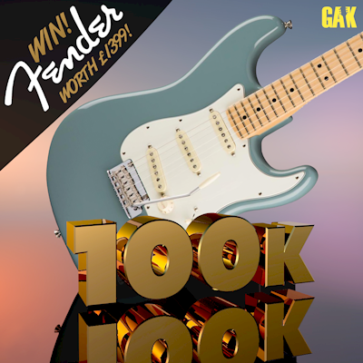 This week you've got a chance to win a Fender Pro series Stratocaster in our 100K giveaway.