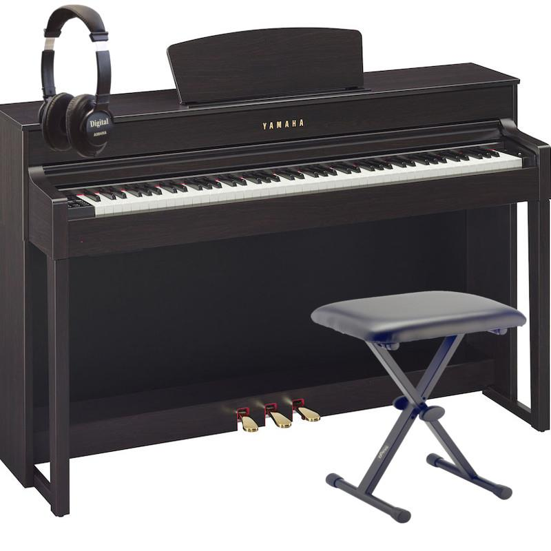 yamaha clavinova clp 535 dark rosewood digital grand piano bundle. Black Bedroom Furniture Sets. Home Design Ideas