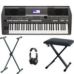 Yamaha PSR-S670 Keyboard Bundle With Included Accessories
