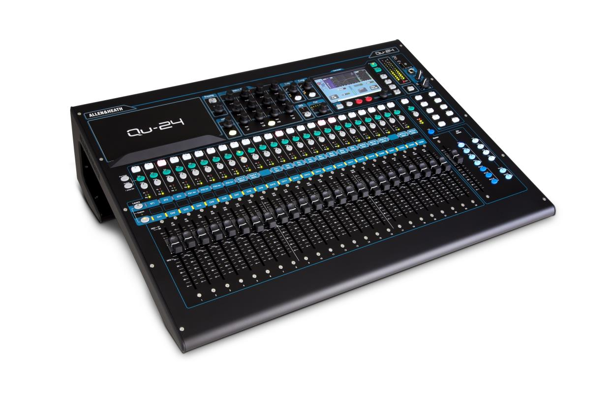 allen heath qu 24 chrome edition digital mixer. Black Bedroom Furniture Sets. Home Design Ideas