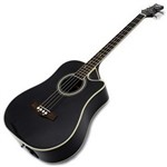 Ashton ACB100CEQ Electro Acoustic Bass, Black
