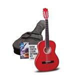 Ashton SPCG34 3/4 Size Classical Guitar Starter Pack (Trans Red)
