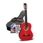 Ashton SPCG44 Classical Guitar Starter Pack (Left Handed, Amber)