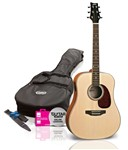 Ashton SPD25 Dreadnought Acoustic Pack, Natural Matt