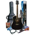 Ashton SPD25CEQ Dreadnought Electro Acoustic, Black