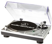 Audio-Technica AT-LP120USB HC Direct Drive Turntable, Silver