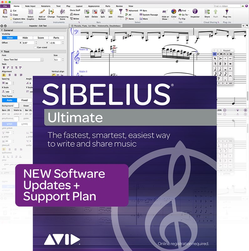 Avid Sibelius Ultimate New Support