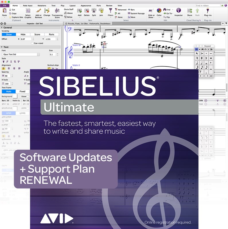 Avid Sibelius Ultimate Support Renewal