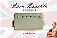 Bare Knuckle Pickups Black Dog Covered Set (6 String, Nickel)