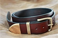 Bear Straps Western Classic (Brown, Nickel)
