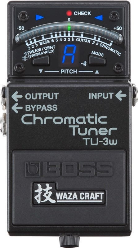 Boss Waza Craft TU-3W Tuner Pedal Top