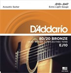 D'Addario EJ10 80/20 Bronze (Extra Light 10-47)