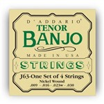 DAddario EJ63 Nickel Wound Tenor Banjo Strings (9-30)