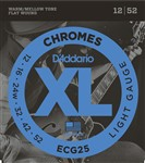 D'Addario ECG25 XL Chromes Flat Wound, Light, 12-52