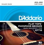 D'Addario EFT16 Flat Top Semi-Bright (12-53)