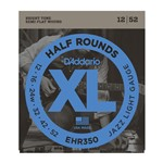 D'Addario EHR350 Half Rounds, Jazz Light, 12-52