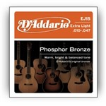 D'Addario EJ15 Phosphor Bronze (Extra Light 10-47)