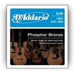 D'Addario EJ16 Phosphor Bronze Light (12-53)