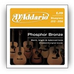 D'Addario EJ19 Phosphor Bronze Bluegrass (12-56)