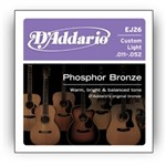 D'Addario EJ26 Phosphor Bronze Custom Light (11-52)
