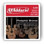 D'Addario EJ39 Phosphor Bronze 12 String Medium (12-52)