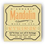 D'Addario EJ70 Phosphor Bronze Mandolin Strings Medium Light (11-38)