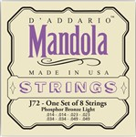 D'Addario EJ72 Phosphor Bronze Mandola Strings Light (14-49)