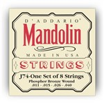 D'Addario EJ74 Phosphor Bronze Mandolin Strings, Medium (11-40)
