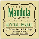 D'Addario EJ76 Phosphor Bronze Mandola, Medium, 15-52