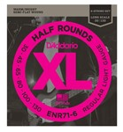 D'Addario ENR71-6 Half Rounds Bass, Regular Light, 30-130, Long Scale