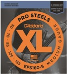 D'Addario EPS160-5 Pro Steels Bass, 5-String, Long Scale, Medium, 50-135