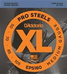 D'Addario EPS160 Pro Steels Bass, Long Scale, Medium, 50-105