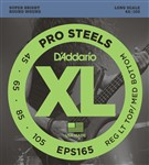 D'Addario EPS165 Pro Steels Bass, Long Scale, Medium Light, 45-105