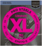 D'Addario EPS170-5 Pro Steels Bass, 5-String, Long Scale, Light, 45-130