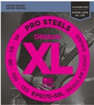 D'Addario EPS170-5SL Pro Steels Bass, 5-String, Super Long Scale, 45-130
