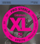 D'Addario EPS170 Pro Steels Bass, Long Scale, Light, 45-100