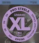 D'Addario EPS190 Pro Steels Bass, Long Scale, Custom Light, 40-100